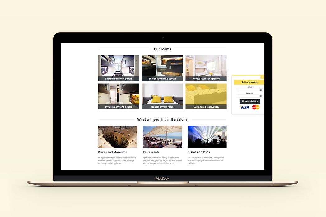 Identidad corporativa & web Free Hostels Barcelona